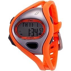 Asics CQAR0508 - Reloj digital de cuarzo unisex con correa de silicona, color naranja