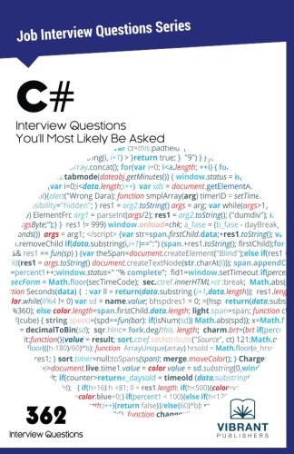 C# Interview Questions You'll Most Likely be Asked: Volume 5 (Job Interview Questions Series)