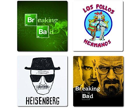 4-teiliges Breaking Bad Untersetzer-Set