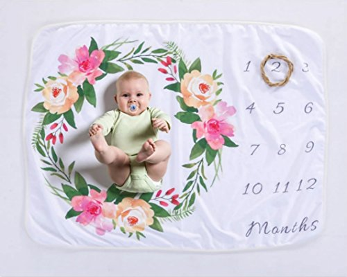 quibine Baby Monatliche Milestone Polar, Neugeborene Fotografie Hintergrund Prop: Growing Säuglinge & Kleinkinder 76x 102cm (Polar Fleece)