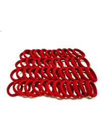 Shop & Shoppee Pack Of Medium Size 30 Pcs Soft & Quality Hair Bands Hair Band, Rubber Band (Red)