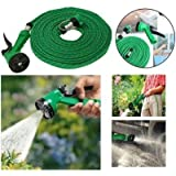 Jhapat Water Spray Gun 10 Meter Hose Pipe- House, Garden & Car Wash Hose Pipe (Green)