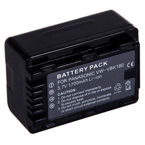 Amsahr Digital Replacement Camera and Camcorder Battery for Panasonic VW-VBK180, VW-VBK180K Sdr-t70-camcorder-batterie