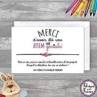 Carte de voeux ATSEM trop géniale + Bracelet porte bonheur Agate