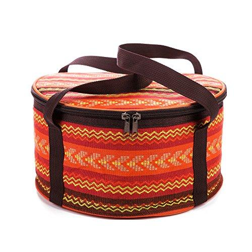 Outdoor Picknick Aufbewahrung Hand Tasche für Pot Schale Besteck Geschirr