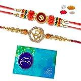 #10: Rakhi and Chocolate - Maalpani Divine Om rakhi set of 2 plus Celebration