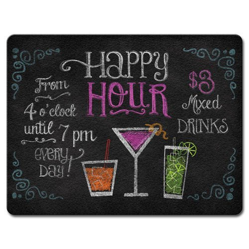 Happy Hour-Large Glass Cutting Board by Highland Graphics Highland Graphics