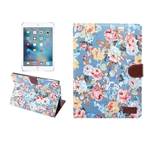 New iPad 9.7 2017 Case,Floral Fabric Grain Magnetic Smart Stand Case Cover for New iPad 9.7 2017 Released ( Model A1822 A1823 ) -
