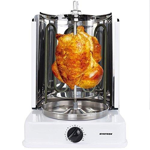 Syntrox germany machine à kebab avec außenspießen et 120 minutes pour système de minuterie (blanc)