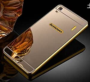 Ultimate Collection`s Luxury Metal Bumper + Acrylic Mirror Back Cover Case For LENOVO A7000 /