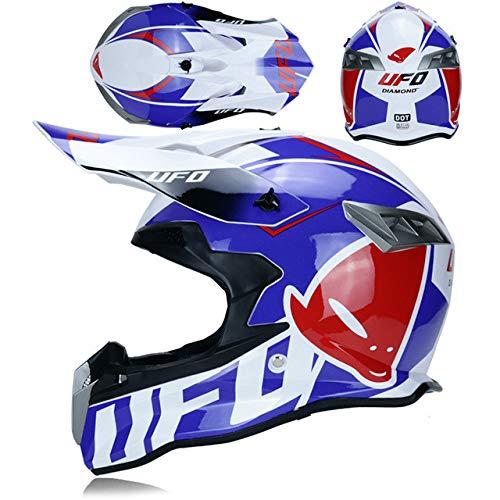Mdsfe Hochfester Herren-Outdoor-Motocross-Motocross-Rennhelm mit herausnehmbarem Futter und hervorragendem Belüftungssystem - 32 X XL