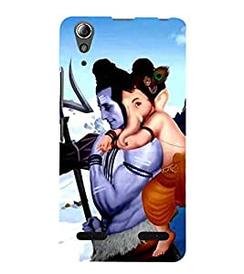 Vizagbeats ganesh on shiva back Back Case Cover for Lenovo A6000