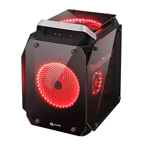 Computer-cube-gehäuse (Talius Golem–Gehäuse ATX Gaming Cube–4Platten aus Hartglas–USB 3.0–2x USB 2.0–ohne Netzteil–Schwarz)