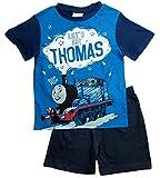 Thomas die kleine Lokomotive Kollektion 2018 Schlafanzug 86 92 98 104 110 116 Pyjama Kurz Shortie Shorty Thomas und Seine Freunde (Blau, 98)
