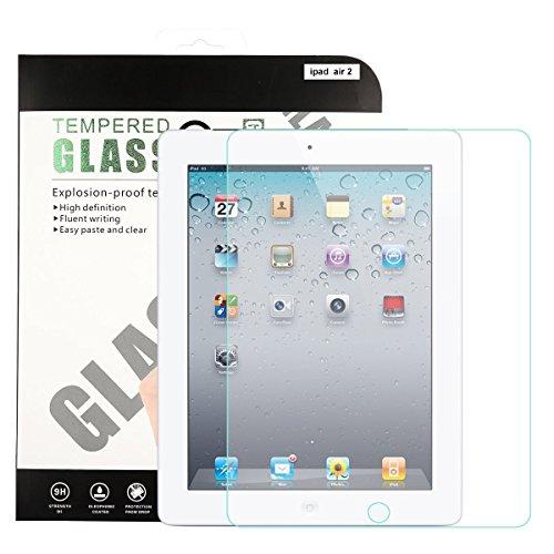 Premium gehärtetes Glas, yasashe Displayschutzfolie für Apple iPad transparent farblos for iPad Air / Air 2 / Pro 9.7