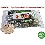 72Bolas de grasa comida 90gr no aceite de palma comida para pájaros silvestres