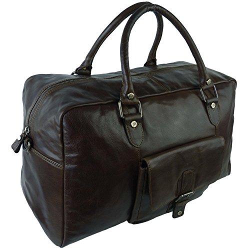 Mesdames pour homme Grand Sac Fourre-tout en cuir par Underwood & Tanner de voyage Nuit KGFXRV