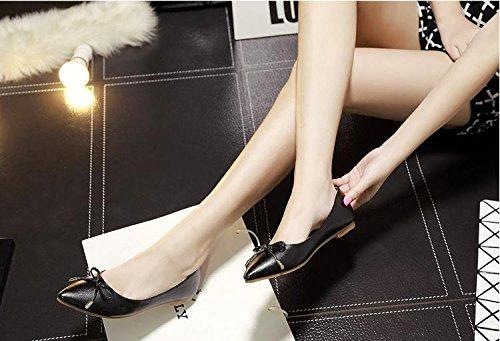 &zhou Pointe tête plat leather sandal femelle paresseux sexy élégant confortable occasionnel 39