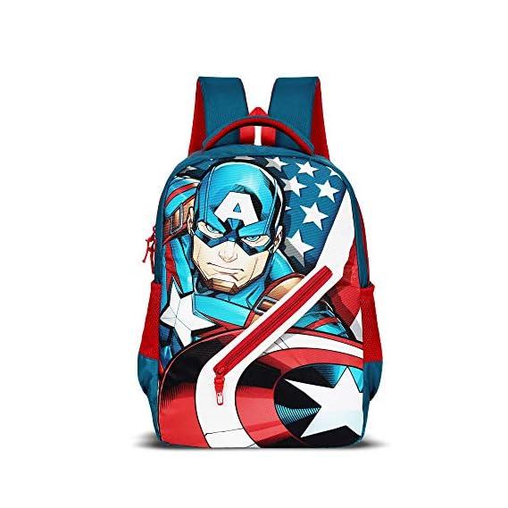 Priority Titan HD Captain America Teal Blue Casual Backpack|Kid's School Bag