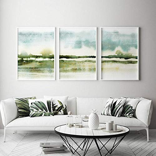 Woplmh Nórdico Abstracto impresionista Lienzo Pintura