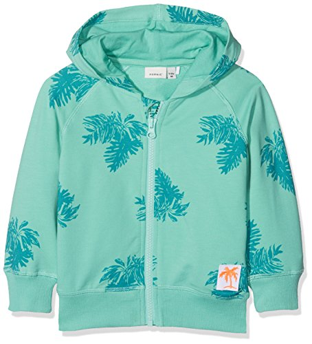 NAME IT NAME IT Baby-Jungen Sweatshirt NMMDECTUS SWE Card W Hood UNB, Mehrfarbig (Pool Blue), 92