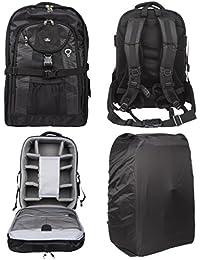 Case4Life Sac à Dos Explorer Pro SLR DSLR + Protectio pluie / Porte Trépied pour Nikon SLR D3100, D3200, D3300, D3400, D4, D40, D5, D500, D5100, D5200 D5300 D5500 D700 D750 D7100 D7200 D800 D810 D810A