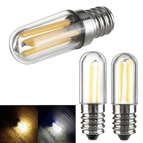 Mini E14 E12 Led Kühlschrank Gefrierschrank Glühlampe Cob Dimmbare Lampen 1W 2W 4W Lampe Kalt/Warmweiß 110V 220V-Warm_White_1W_E12_110V