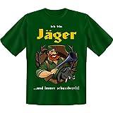 spaßiges Sprüche Tshirt Ich bin Jäger ...und immer schussbereit! Gr XXL Fb grün
