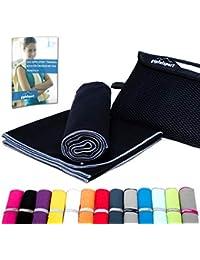 gipfelsport Mikrofaser Handtuch Set - Microfaser Handtücher für Sauna, Fitness, Sport | Strandtuch, Sporthandtuch | 8 Größen | 13 Farben