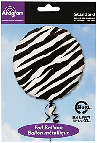 Amscan 119591-02 Zebra Designer Foil Balloon