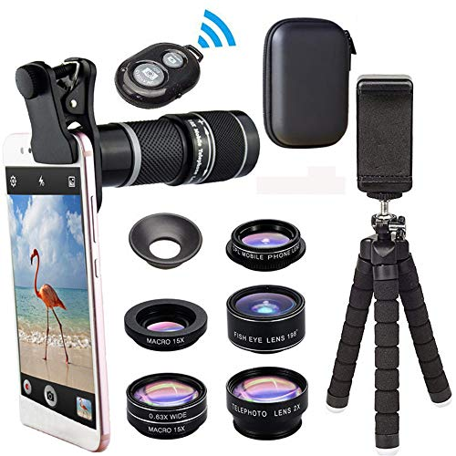 MCJL Clip-Kamera-Telefon-Objektiv Kit, universelles 18x Zoom-Teleobjektiv + 15-mal Makro-Objektiv +...