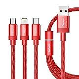 Baseus Multi-Presa Cavo Dati USB IP Micro USB Tipo C 3IN1CHARGING Cavi Dati e trasferimento Dati 3in1Cavo di sincronizzazione 3.5a Ricarica Veloce