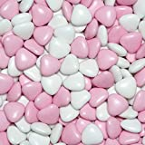 EinsSein Schokoherzen MIX 1kg weiß-rosa gl. Gastgeschenke Hochzeitsmandeln Dragees - 3