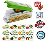 #5: MIRAZ 12 IN 1 PREMIUM VEGETABLE CUTTER WITH CHOPPER ~ Fruit Cutter ~ Cheese Shredder ~ Vegetable Grater ~ Vegetable Slicer ~ Chips maker ~ French Fries maker ~ Best Kitchen Tool ~ Unbreakable Poly-Carbonate Body ~ 100% Virgin A Grade Plastic ~ High Grade Rust Free Stainless Steel Blades ~ 12 BLADES WITH PEELER ~ EASY PUSH & CLEAN SYSTEM ~ ABS FOOD GRADE MATERIAL ~ INTERNATIONAL DESIGN ~ PROUDLY MAKE IN INDIA