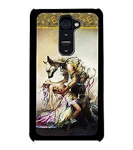 Fuson 2D Printed Girly Designer back case cover for LG G2 - D4188