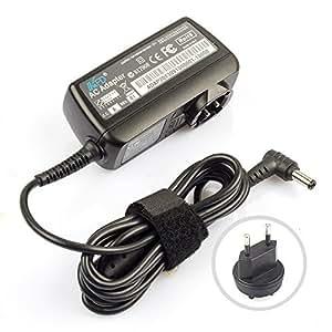 TomTech® 45W 19V 2,37A Chargeur secteur Adaptateur pour Toshiba Charger PA3822U-1ACA,SATELLITE C670D-110 ,pour Asus AD883220 010KLF ASUS F555LA-AB31 X555LA adaptateur alimentation,chargeur ordinateur portable avec cordon d'alimentation prise UE