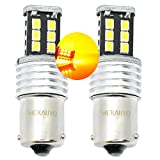 MCK Auto 581 BAU15S - Bombillas LED para intermitentes, 15SMD PY21W, con sistema bus CAN, color naranja ámbar