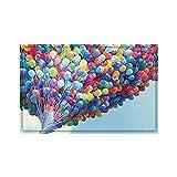 WDJZ Wandmalerei Bodenfliesen Bodenbelag Aufkleber Rutschfest Wasserdicht Entfernbar Ballonmuster 3D