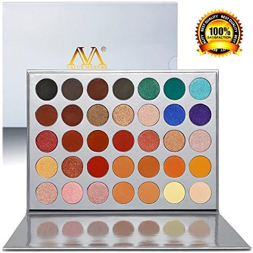 Veganen Lidschattenpalette, Lidschatten-Make-Up-Palette von Valuemakers Cosmetics mit 35 Lidschatten Pro Fall Eye shadow (Pro Makeup Eye)