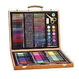 Set de stylos aquarelle pour coffret en bois pour enfants, kit de peinture, papeterie pour enfants (150 pièces)