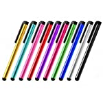Ideal for tablets and smartphones. These are universal metal touch screen stylus pens for iPads, iPods, iPhones, Android Phones, Android Tablets, Windows Tablets, PCs, Kindles, Nooks or any other touch screen device. Use them anywhere you would use y...