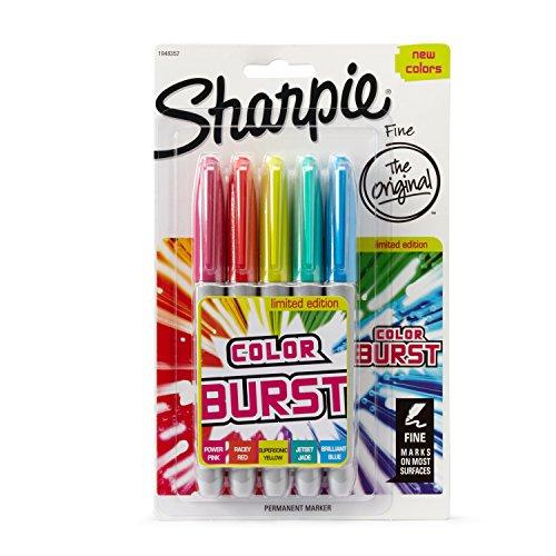 Verschiedene Sharpie-stifte (Feine, wasserfeste Stifte von Sharpie, verschiedene Farben, 3Stück 5 Stück Pack of 5)