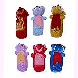 Kidzvilla Multi Colour Baby Milk Bottle Cover (Pack Of 6)