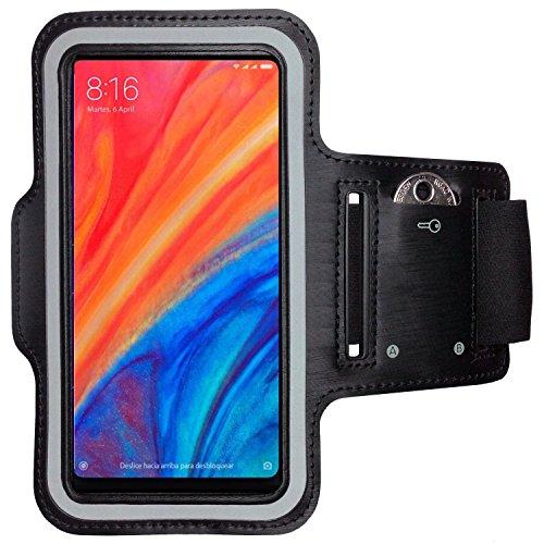 CoverKingz Armtasche für Xiaomi Mi Mix 2S Sportarmband, Laufarmband mit Schlüsselfach, Sport Handyhülle, Handy Armband Schwarz