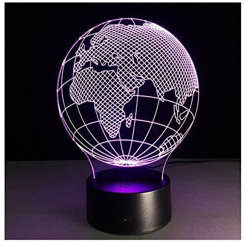 Nachtlicht NachttischLampe Europa Und Afrika Weltkarte Visuelle 3D Led Lampe Beleuchtung Für Home Office Dekorative Schreibtisch Tischlampe Projektion Kid Nachtlichter