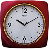 Ajanta 10 Inches Wall Clock For Home/Offices/Bedroom/Living Room/Kitchen (Step Movement, Red)