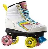 Firefly Kinder Rollschuhe Rollerskate Roller Disco weiß / pink / blau, Größe:40
