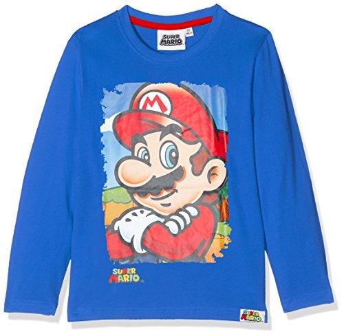 SUPER MARIO BROS 161507, Camiseta para Niños, Azul (Bleu), 6 Años