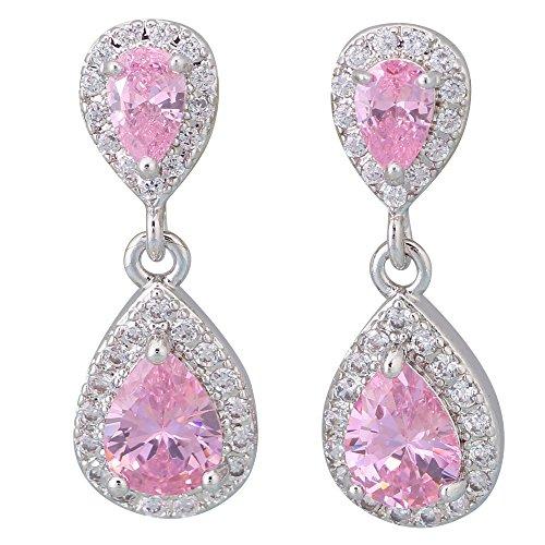 Orecchini Argento Rosa Topazio Bianco Orecchini Da Donna Fashion Jewelry E484