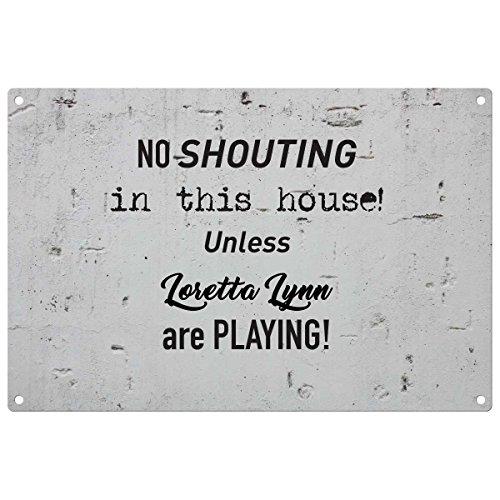 sofern keine Schreien in diesem Haus Loretta Lynn Spielen–Vintage Deko Wandschild–fertig zum Aufhängen (Loretta-haus)